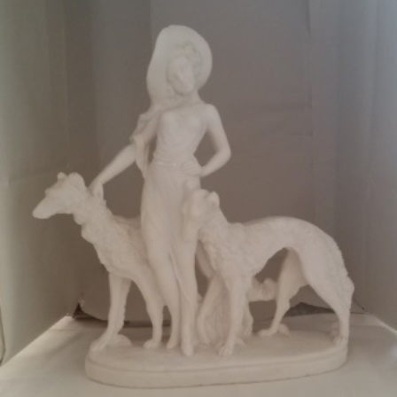 Borzoi, Chalkwear, Figurine, Flapper