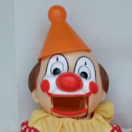 Clown, Coin Bank, Mouth, Vintage
