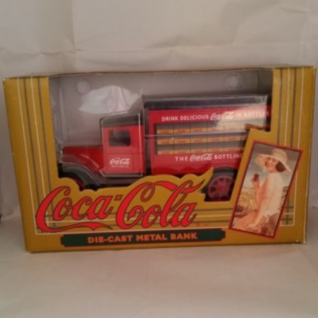 Ertl, Coca Cola, Hawkeye, Delivery Truck, Bank