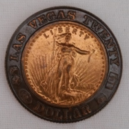 Las Vegas, Liberty, Twenty Dollar, Token