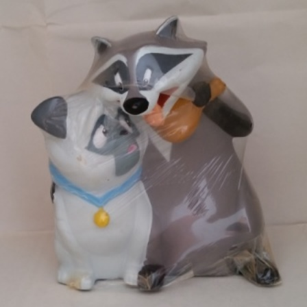 Walt Disney, Money Bank, Meeko Raccoon, Percy Pug