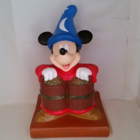 Mickey Mouse, Fantasia, Coin Bank, Wizard, Walt Disney