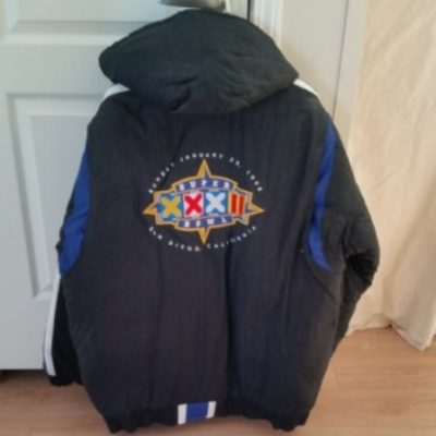 NFL, Super Bowl, Budweiser crest, Jacket