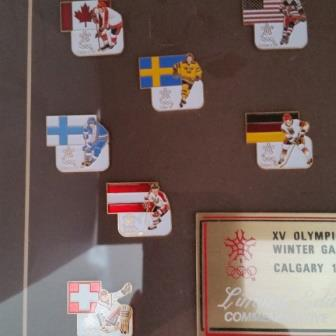 Hockey, Pins, 1988 Olympics, Commemorative