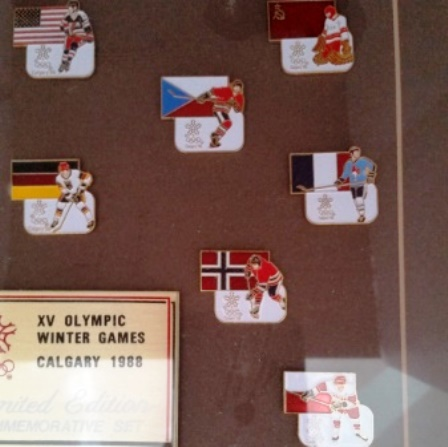 Hockey, Pins, 1988 Olympics, Commemorative