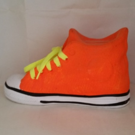 Sneaker, Laces, Neon, Coin Bank