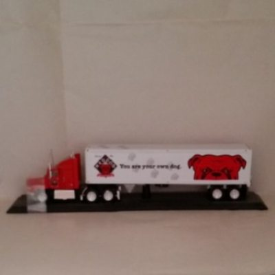 Plank Road, Semi, Red Dog, Diecast
