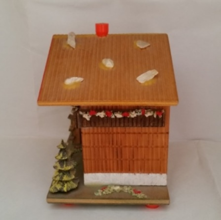 Swiss Chalet, Money Bank, Thermometer, Mountaineers