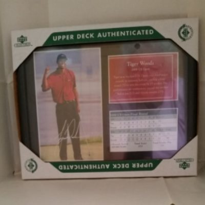 Tiger Woods US Open, Upper Deck, Score Card