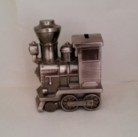 Metal, Train, Engine, Coin Bank