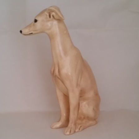 Whippet, Statue, Porcelain, Pridmore