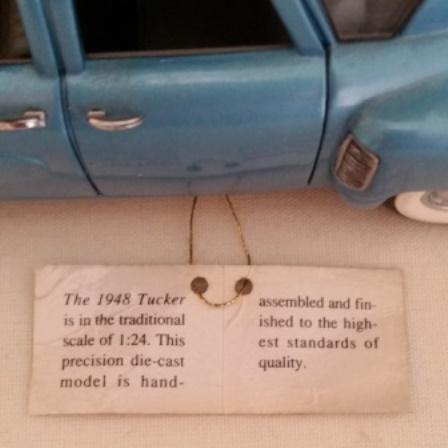 Tucker, Franklin Mint, 1948, Diecast