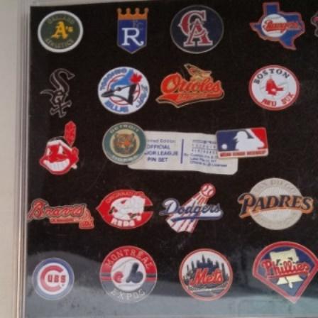Baseball, Pin Set, Major League, Vintage