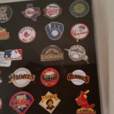 Baseball, Major League, Pins. Vintage