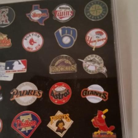 Baseball, Major League, Pins. Vintage