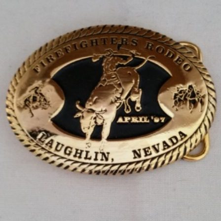 Buckle, Firefighters, Brass, Rodeo