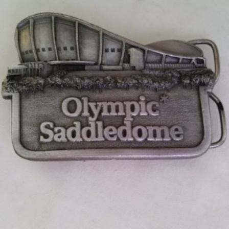 Olympic, Saddledome, Calgary, Belt Buckle