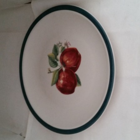 Casuals, China Pearl, Apples, Plate
