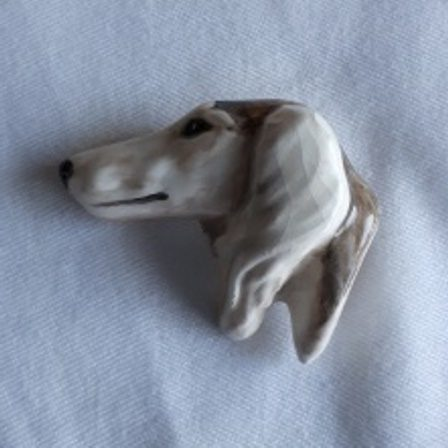 Saluki, Ceramic, Pin
