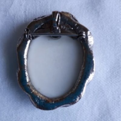 Borzoi, Silver, Pendant, Pin