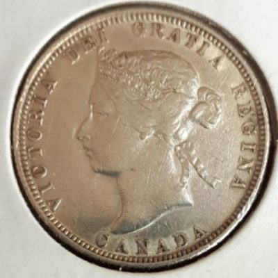 Silver, Quarter, 1882H, Canadian