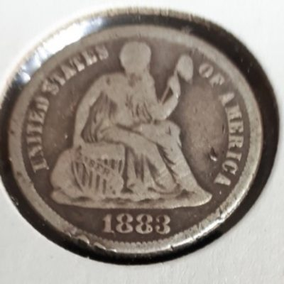 Silver, Dime, 1883, US