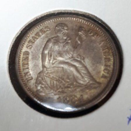 Liberty, Silver, 1884, Dime
