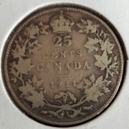 Silver, Quarter, 1911