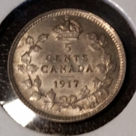 Silver, 1917, 5 cent