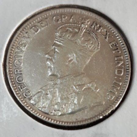 Silver, Quarter, 1919, Canadian