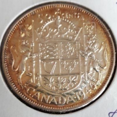 Silver, Half, Canadian, 1946