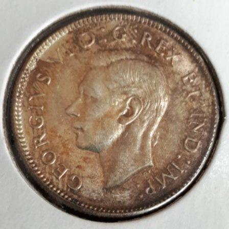 Silver, Quarter, 1947 Dot