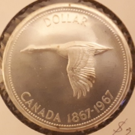 Silver, Dollar, Canadian, 1967