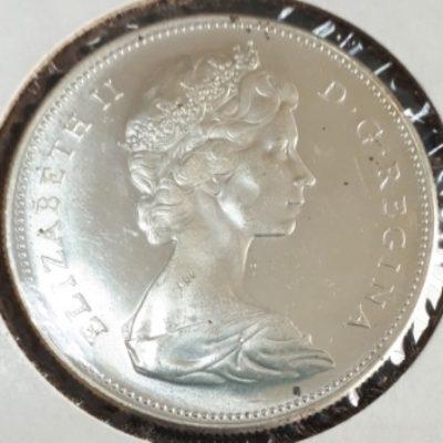 Silver, Dollar, Canadian, 1967