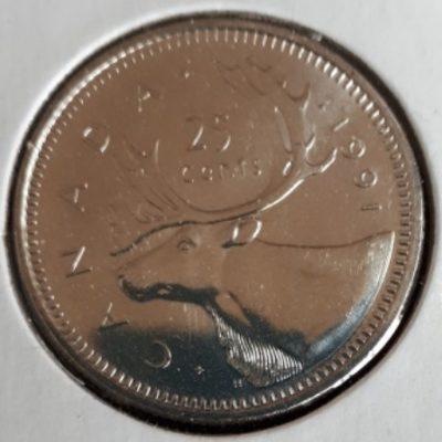 Silver, Quarter, 1991