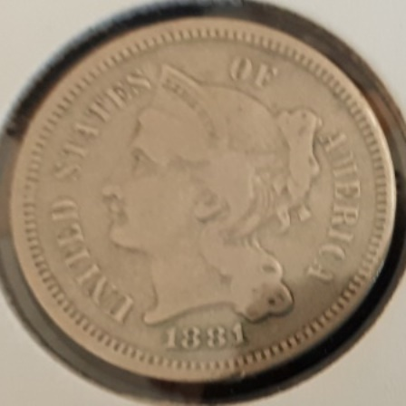 Silver, US, Three Cents