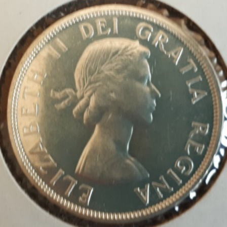 Silver, Dollar, Canadian, 1956