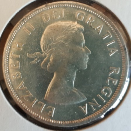 Silver, Dollar, Canadian, 1958