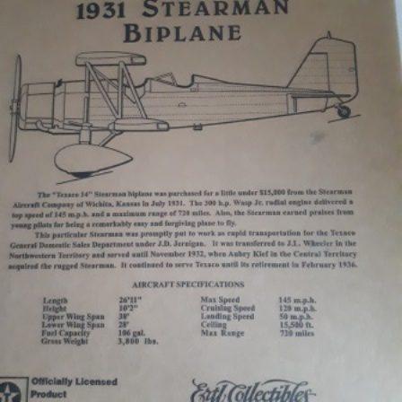 Texaco, Stearman BiPlane, Diecast, Bank