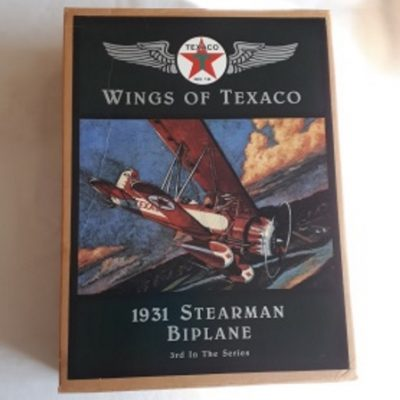 Texaco, Stearman BiPlane, Diecast, Bank
