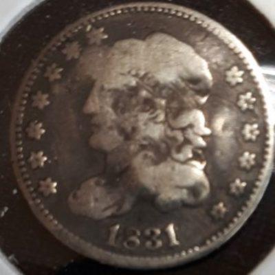 US, Half Dime, Silver, 1831