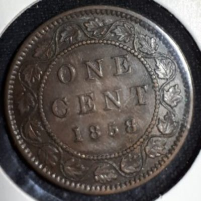 Canadian, Penny,1858, Large