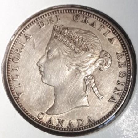 Canadian, Quarter, Silver, 1870