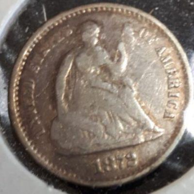 US, Half Dime, Silver, 1872S