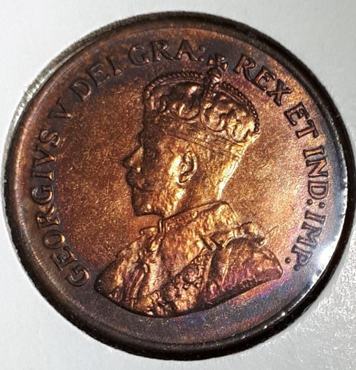 Canadian, Penny, 1923, Red/Brown