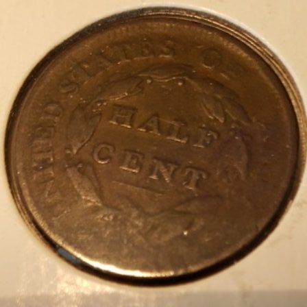 1809 VG US Half Cent