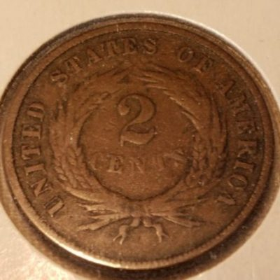 1867 G4 US two cent coin obverse