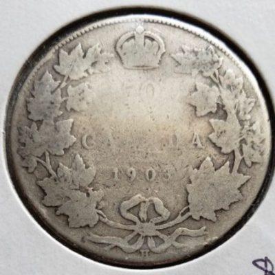 1903H G4 Silver Canadian Half Dollar