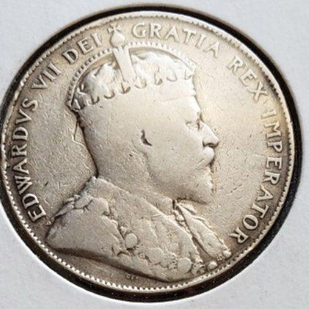 1906 Silver Canadian VG Half Dollar