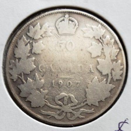 1907 Canadian Half Dollar